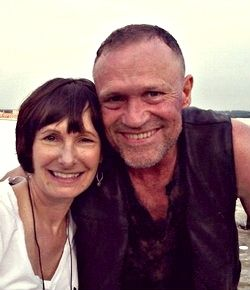 Gale Anne Hurd & Michael Rooker...hated he was killed off...he was so good at being a pain in the ass...