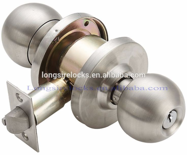 Commercial grade 2 cylinder knob stainless steel door lock knob