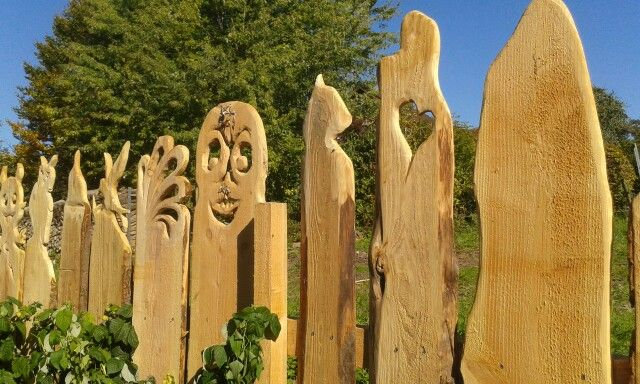 Holz Zaun
