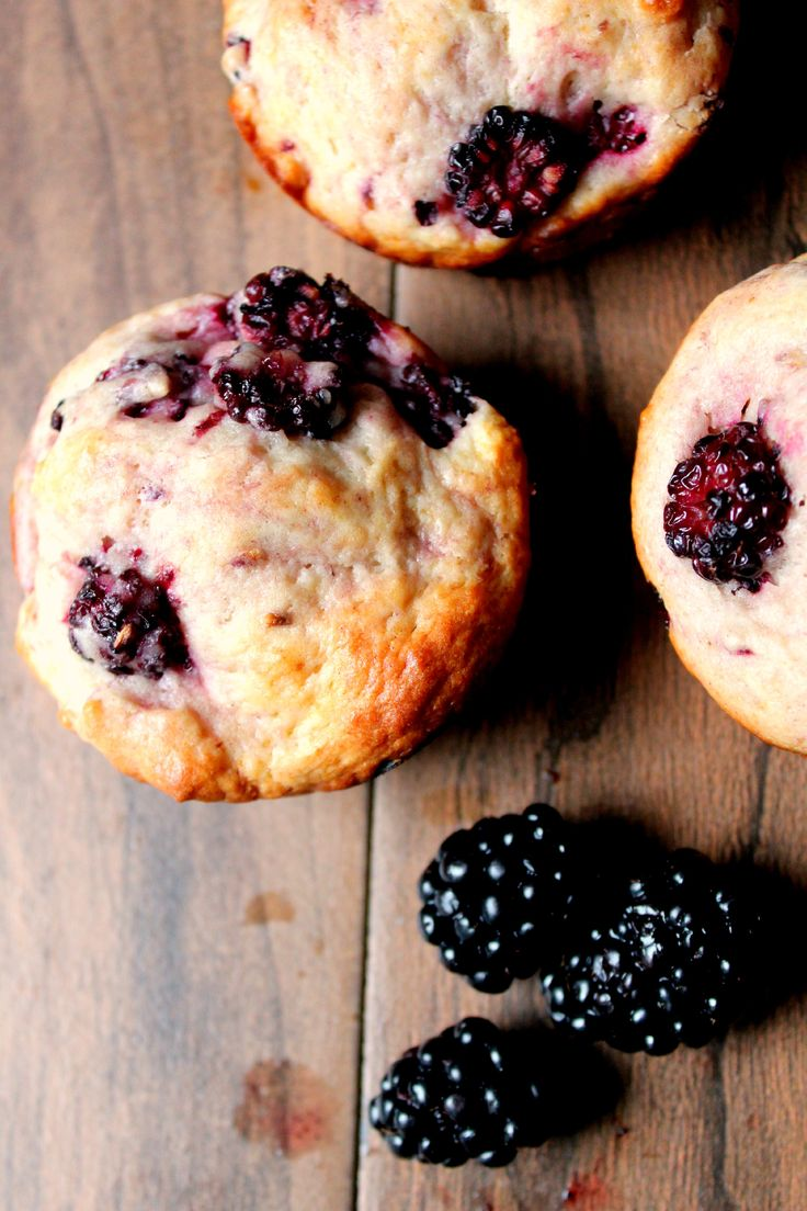 My favorite way to use blackberries - in these Blackberry Sour Cream Muffins! They are to die for!