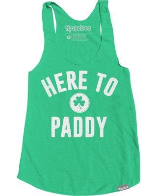 St. Patricks Day Shirts - Women's Here to Paddy Tank Top by Tipsy Elves