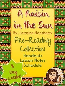 "Pre-reading is an important part of any unit. Introduce your students to the play ""A Raisin in the Sun"" by having students read two of Langston Hughes' poems, ""Harlem"" (Dream Deferred) and ""Mother to Son."""