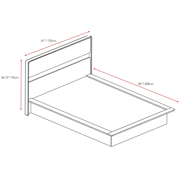 measurements for a full size bed | Full Size Bed Dimensions | Full Size Beds