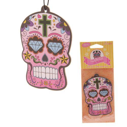 Day Of The Dead Skull Cherry Air Freshener   13075