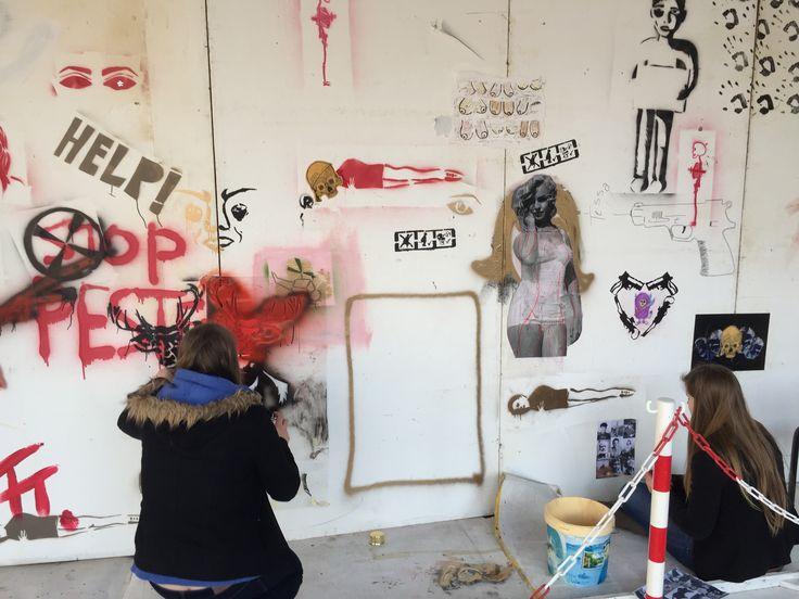the wall graffiti