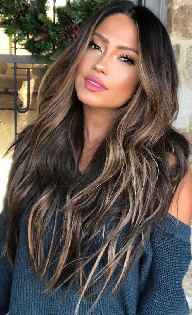 49 Beautiful Light Brown Hair Color To Try For A New Look Brown Hair With Blonde Highlights Balayage Hair Dark Brown Hair Balayage