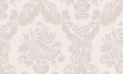 Tapet vinil roz crem  floral 1224 Cristina Masi Carlotta