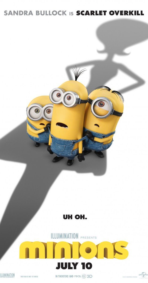 Directed by Kyle Balda, Pierre Coffin. With Chris Renaud, Pierre Coffin, Michael Keaton, Sandra Bullock. Minions Stuart, Kevin and Bob are recruited by Scarlet Overkill, a super-villain who, alongside her inventor husband Herb, hatches a plot to take over the world.