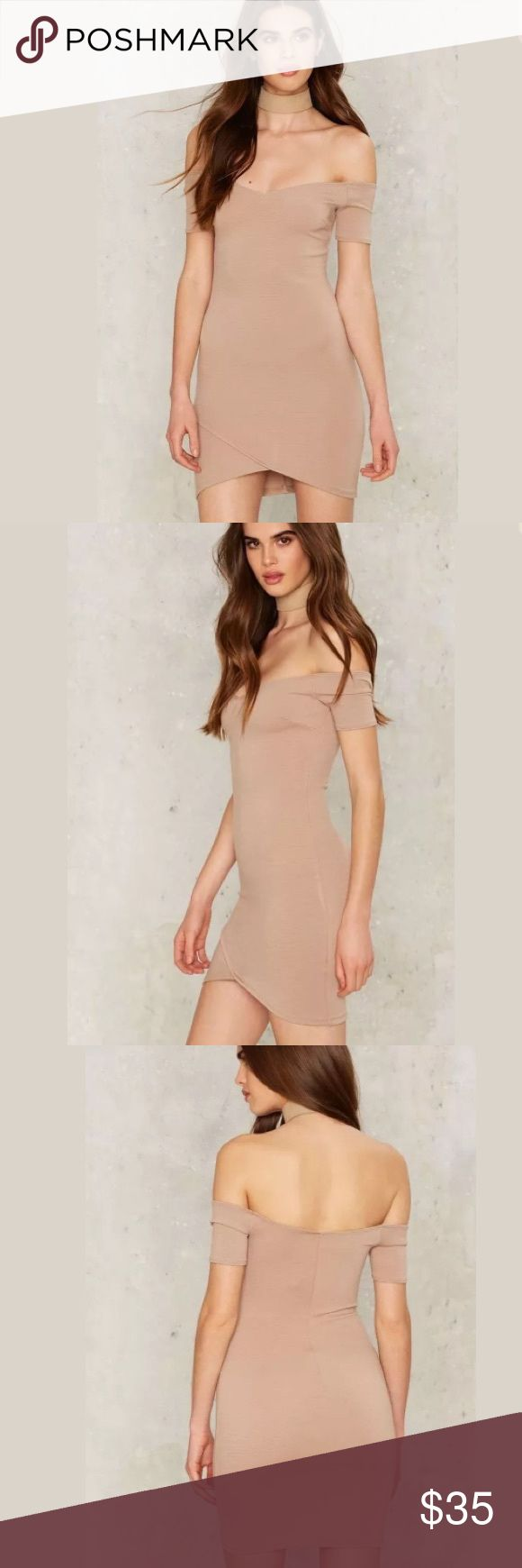 🆕Nude Mini Dress New without tags: A brand-new, unused,  and unworn item. The original tags may not be attached. **nasty gal item refer to site for sizing guide**  NO Trades   NO Holds (whoever first come to buy unless note otherwise) Nasty Gal Dresses Mini