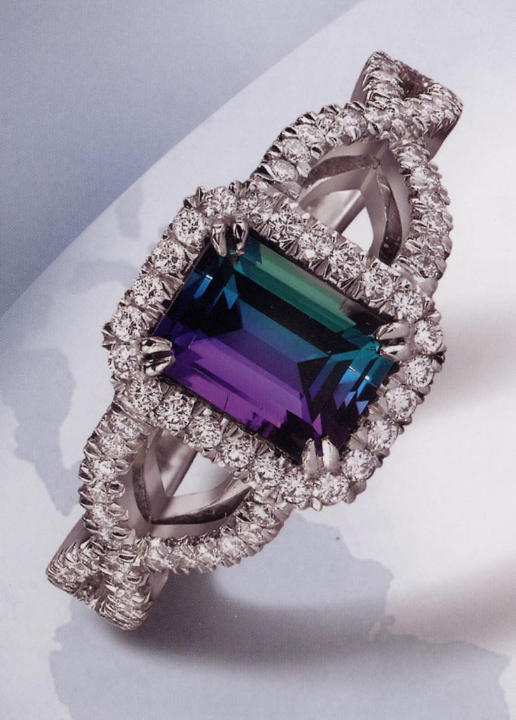 Alexandrite - June's Birthstone... Such a rare stone that pearl was made the birthstone of June... This rare stone turns colors when it is in the sun