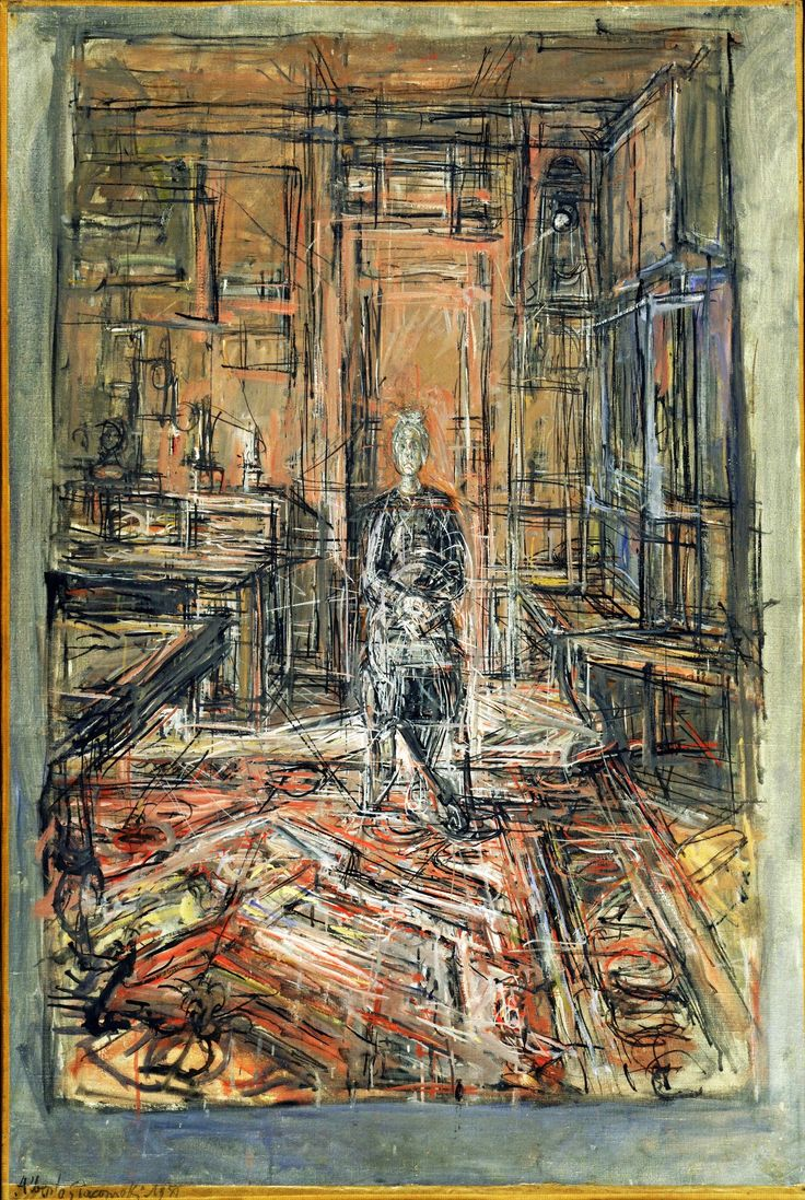 The Artist's Mother by Alberto Giacometti  (1950)