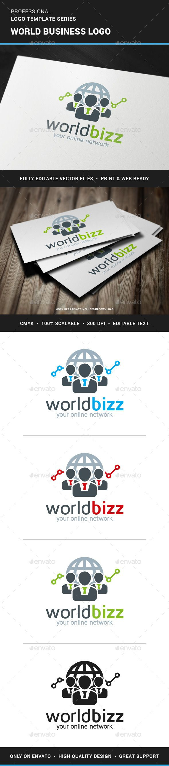 World Business Logo Template — Transparent PNG #stats #men • Available here → https://graphicriver.net/item/world-business-logo-template/11937562?ref=pxcr
