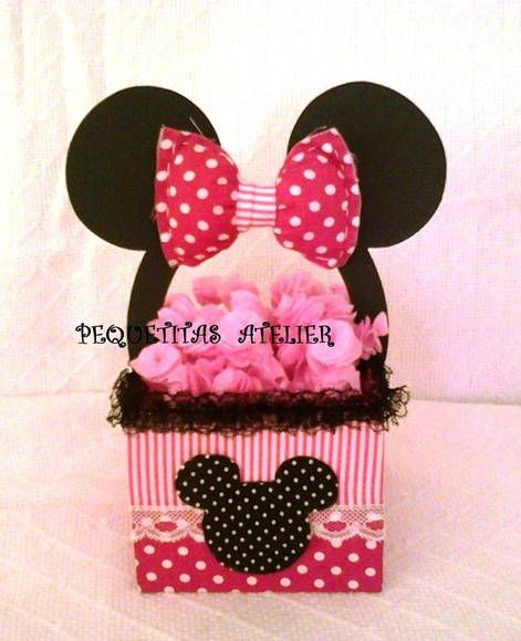 56 best images about centro de mesa minnie para cumple on - Manualidades minnie mouse ...