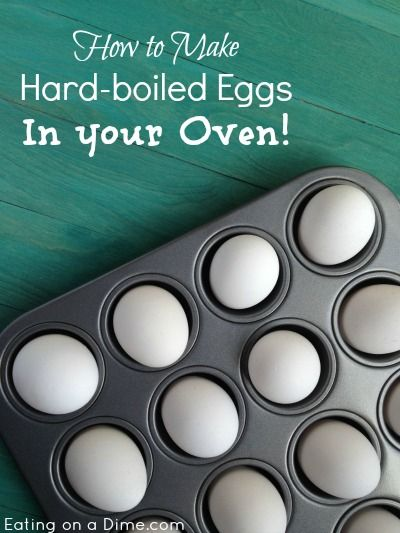 How to make hardboiled eggs in your oven - This way is so much easier than boiling and it won't stick up your house!