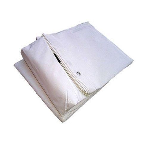 Bâche PVC 90grs blanche 3x4m Œillets imperméable 13,50 + 8,8€
