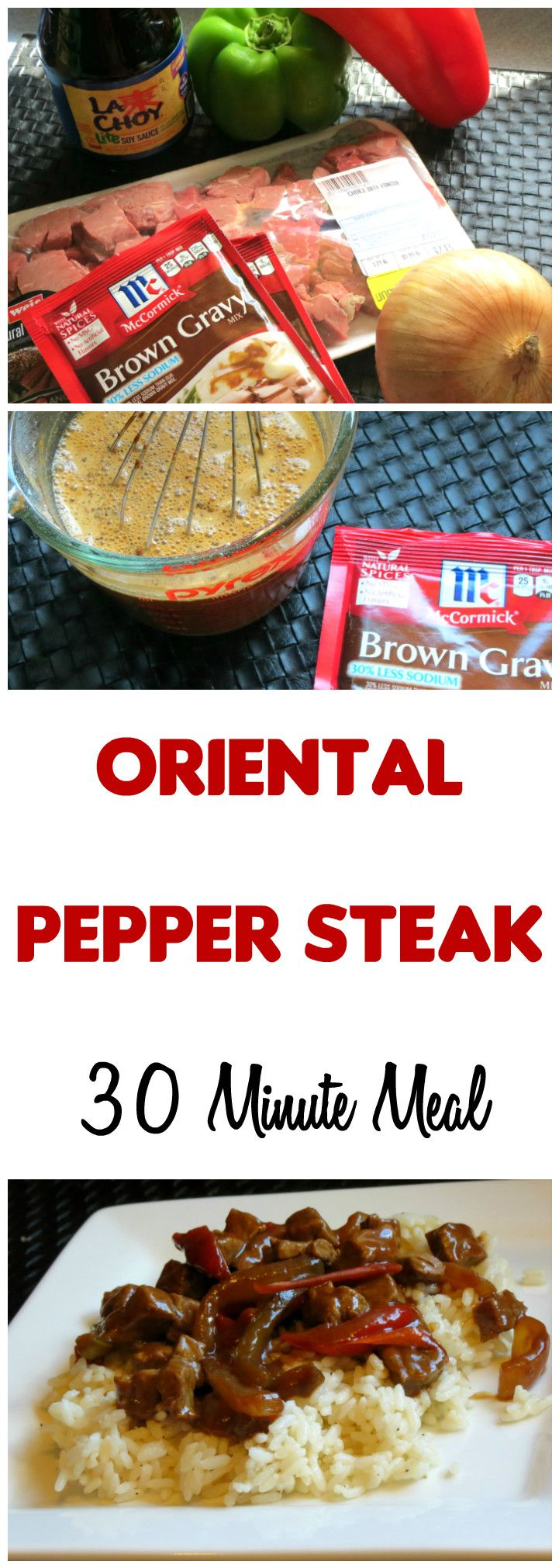 Pepper Steak | A 30 Minute Meal: This quick meal is a family favorite! My kiddos happily eat every last onion and pepper because of the amazing flavor.