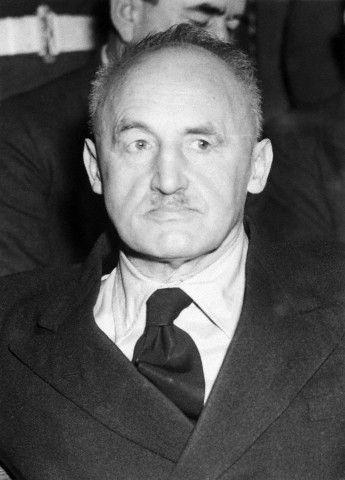 Julius Streicher condamne a mort au tribunal de nuremberg