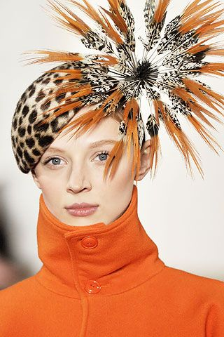 A Burst of Feathers on a Ralph Lauren Hat ....