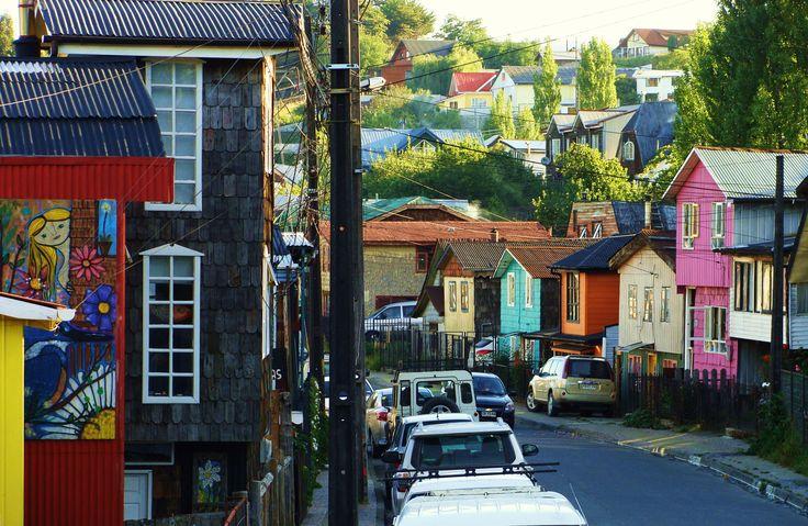 Barrio Gamboa, Castro, Isla de Chiloé, Chile.