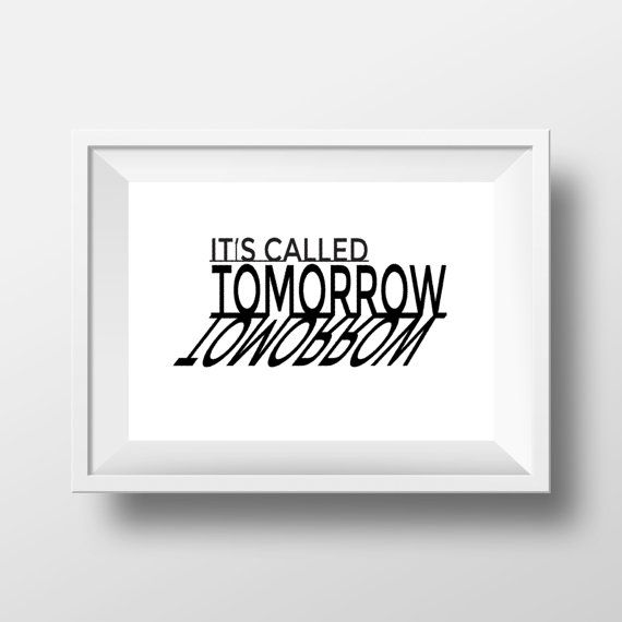 Quotes Print Wall Print Black and White Typography by cre8corner