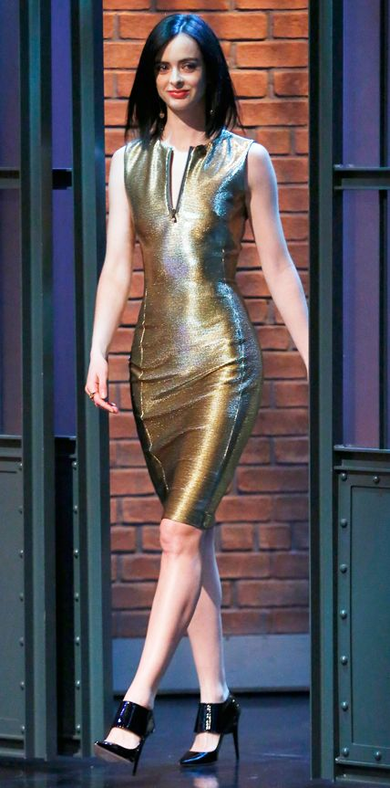 Look of the Day - December 18, 2014 - Krysten Ritter in Versace from #InStyle