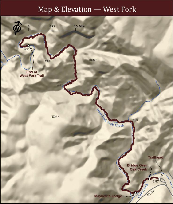 West Fork Sedona Trail Map