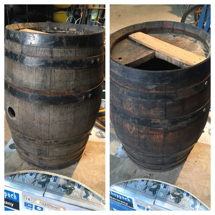 Picked up a old Spanish wine barrel cleaned it up and started the renovation.