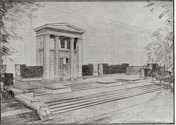 Mill Hill School Memorial Sketch by Stanley Hamp