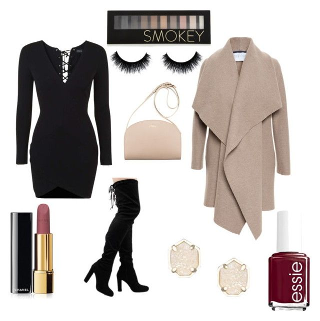 """Winter Fancy"" by dianegoescu on Polyvore featuring Topshop, Harris Wharf London, Kendra Scott, Forever 21, Chanel and Essie"
