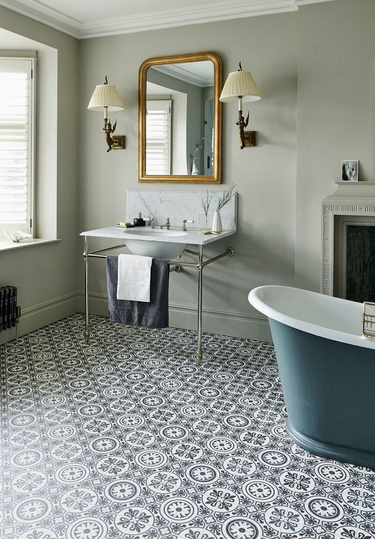 Manufacturers Have Quite Rightly Seen The Trend And Demand For Patterned Floor Tiles And Decided To Giv Bathroom Vinyl Vinyl Flooring Bathroom Vinyl Flooring