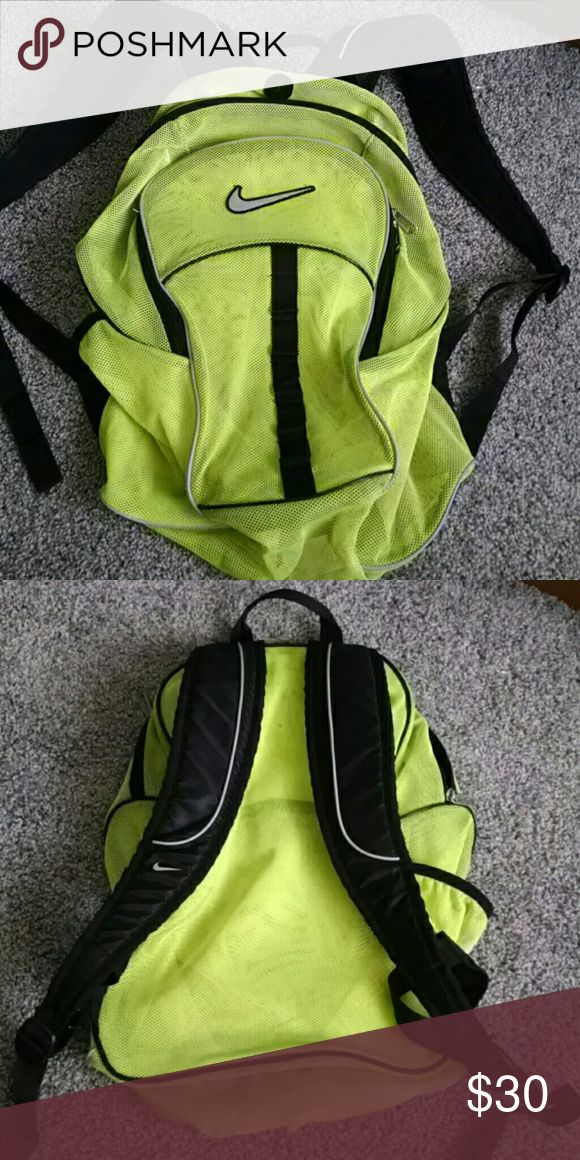 Nike mesh backpack In great condition. All zippers work... Pocket on side.  Like new Nike Bags