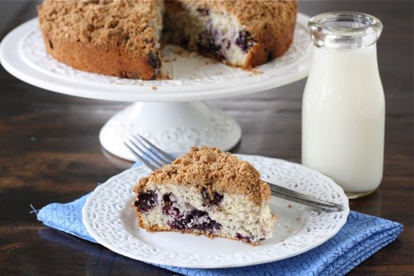 Blueberry Buckle Cake and add a powdered sugar/vanilla glaze--outstanding! Made it this morning!