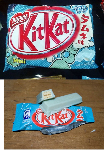 Japan is known for having the most amount of KitKat flavours in the world, including a Ramune (Japanese Soda) flavour!