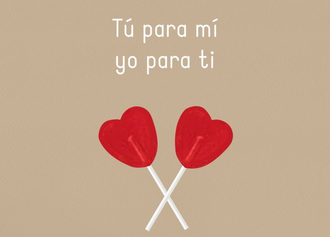 Tarjeta Tú para mi, yo para ti You for me, me for you card