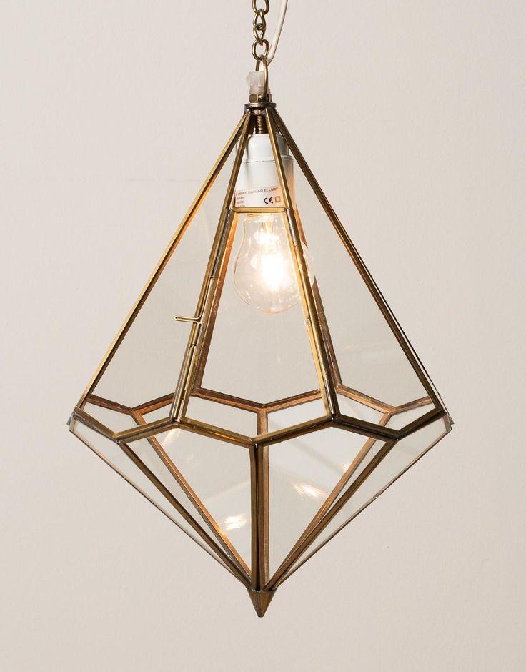 DIAMOND EL LAMP mässing