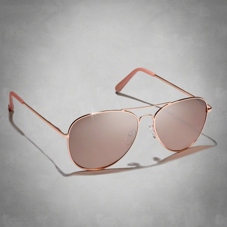 Abercrombie Womens Classic Aviator Sunglasses in Rose Gold - $18.00