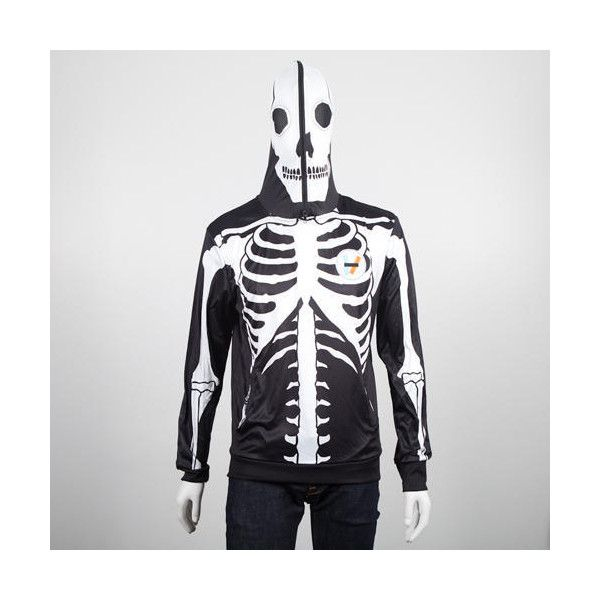 New Skeleton Pullover Hoodie From twenty one pilots ❤ liked on Polyvore featuring tops, hoodies, skeleton hoodie, hoodie pullover, white pullover hoodie, hooded sweatshirt and white hooded sweatshirt