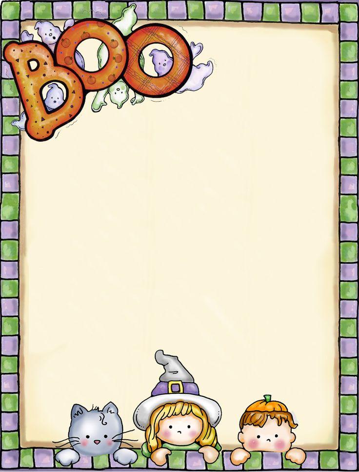 Folha de carta alusiva ao Halloween
