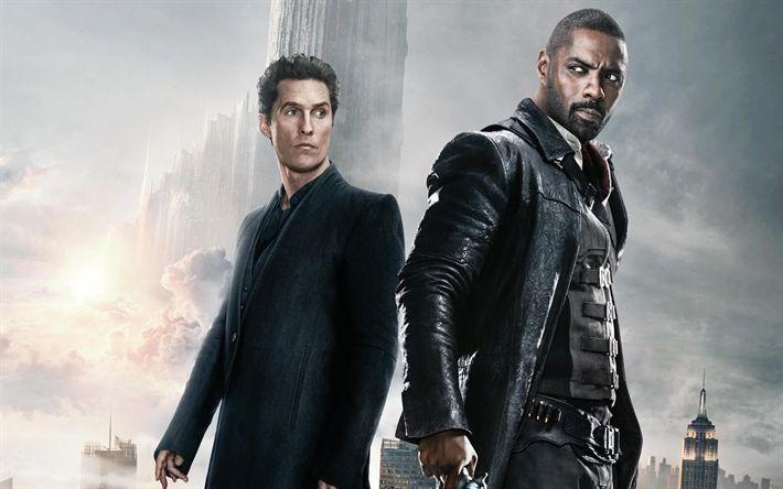Download wallpapers The Dark Tower, 2017, Roland Deschain, Idris Elba, Matthew McConaughey, Walter Padick