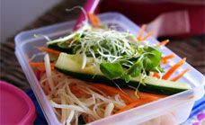Lunch Box Rice Noodle Salad Recipe - Salads