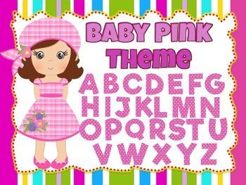 Baby Pink Theme: 100 Alphabet, Numbers and Symbols clip arts (polka dots) 100 images of high-quality baby pink clip arts of the Alphabet, Numbers, and Symbols.Make your TPT products attractive with these baby pink clip arts. All images are in PNG format with transparent backgrounds.Each clipart has yellow polka dot background.