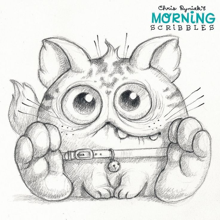 Weird cat #morningscribbles by chrisryniak | Morning ...