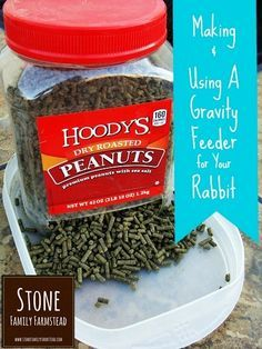 Going on vacation? Make a simple gravity feeder so your rabbits won't go hungry!