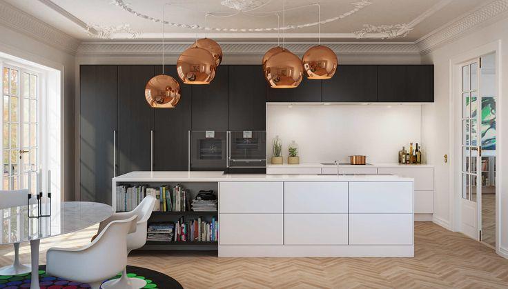 Flot køkken fra uno form   Enkelt og minimalistisk køkken
