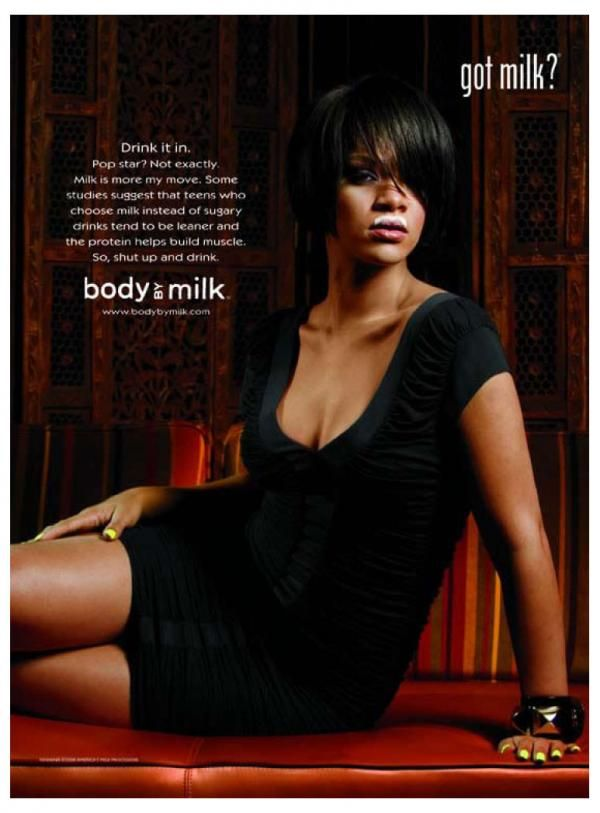What do the 'Got Milk' celebrity pictures advertise ...