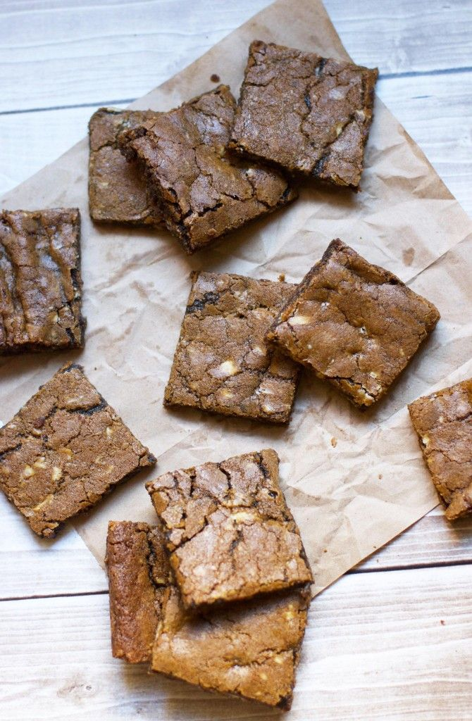 White Chocolate Gingerbread Blondies   Brownies and Bars   Pinterest