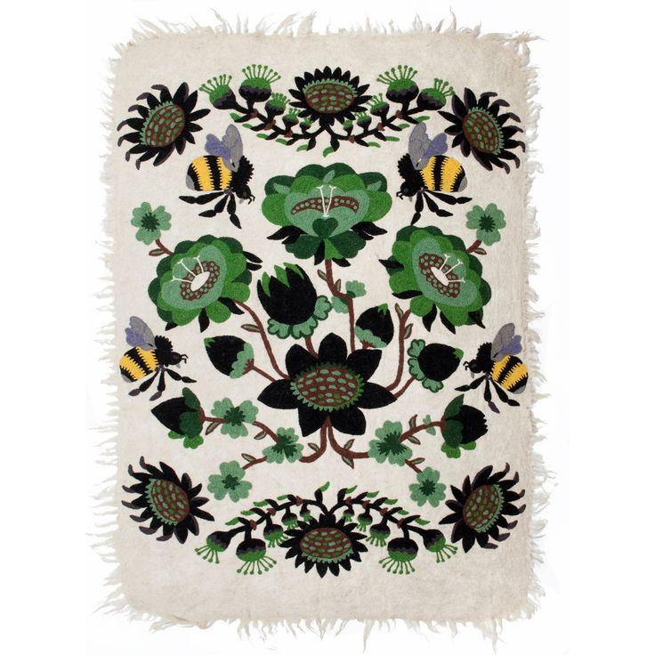 Tikau felted carpet Bombroo - Green version (125 x 180 cm) Design by Klaus Haapaniemi for Tikau
