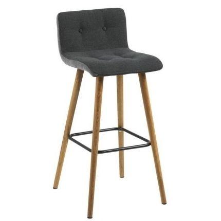 Barová židle Fredy, tmavě šedá