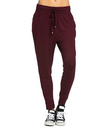 Another great find on #zulily! Burgundy Joggers #zulilyfinds
