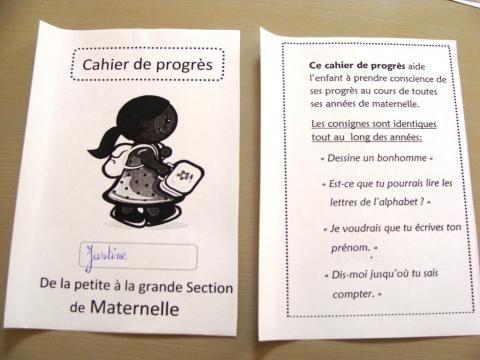 Un cahier de progrès de 4 ans à 6 ans - Prépalipopette